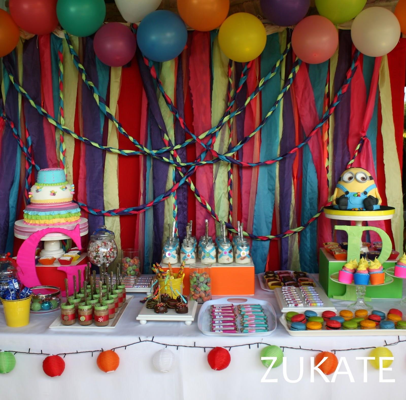 Fiesta de colores para guadi y pepo zukate - Decorar mesas para eventos ...