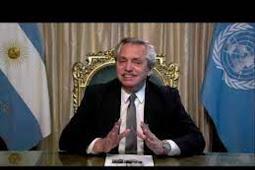 Inilah Pidato Presiden Argentina, Alberto Fernández Berbicara di Debat Umum PBB ke 75