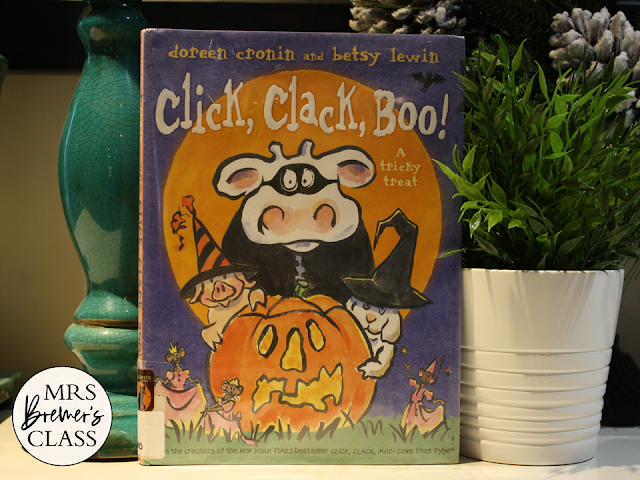 Click Clack Boo book study unit Common Core literacy companion activities Halloween K-1