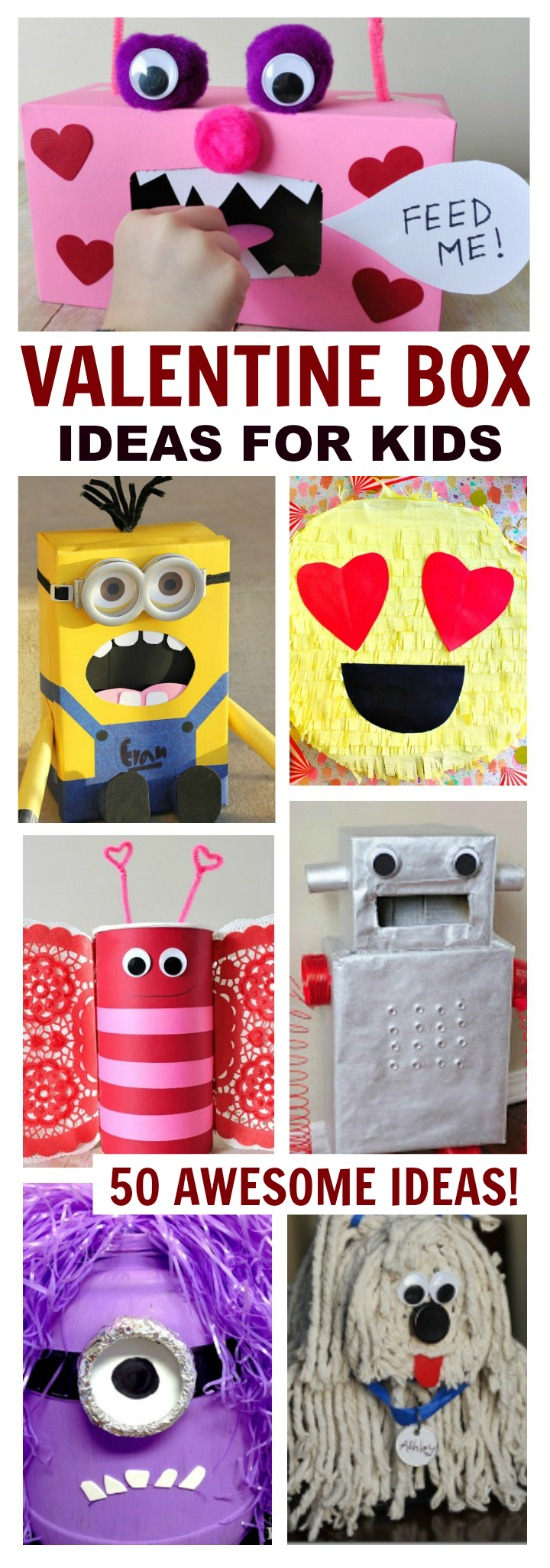 50 AMAZING VALENTINE BOXES FOR KIDS-  these are awesome!!!