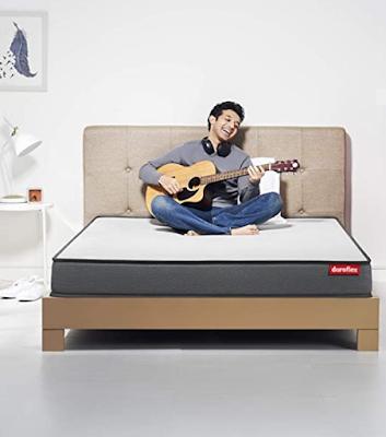 Duroflex LiveIn - 6 Inch Anti Microbial Fabric Memory Foam Mattress with Pillows For Comfortable Sleep