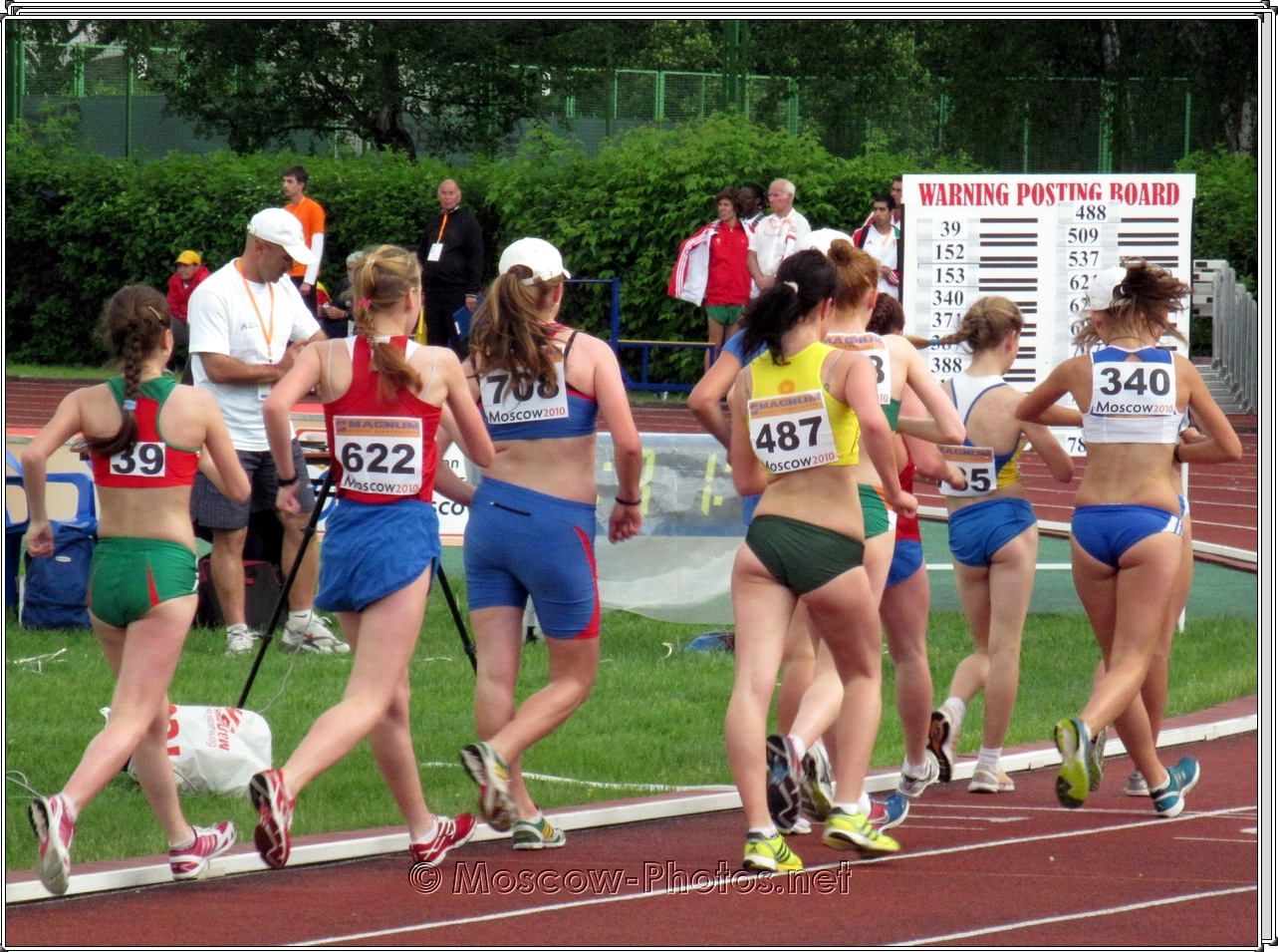 Girls Race Walking at European Youth Trials 2010