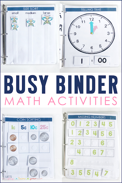 Busy Binder Math Activities