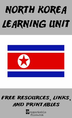 When my kids said they wanted to learn about North Korea for our summer around-the-world education series, I wasn't so sure. It seemed hard to teach kids about propaganda and the communist leader of the Democratic People's Republic of Korea (DPRK) in an age-appropriate way. But we did it! Follow along with us learning about the flag, food, people, and culture of North Korea – and it's all safe for kids. #northkorea #dprk #kids #aroundtheworld #homeschool #lessonplan #geography #unremarkablefiles