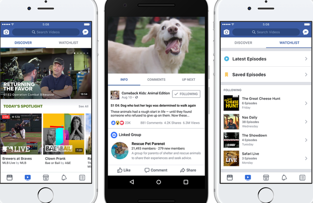 Facebook Watch app Video Streaming Service Launched Worldwide - King