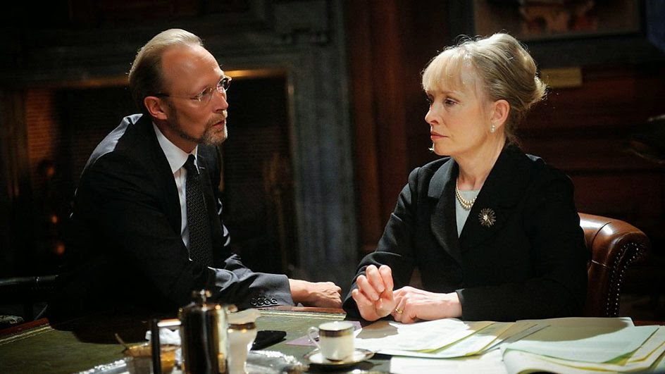 Lars Mikkelsen as Charles Augustus Magnussen and Lindsay Duncan as Lady Elizabeth Smallwood in BBC Sherlock Season 3 Episode 3 His Last Vow