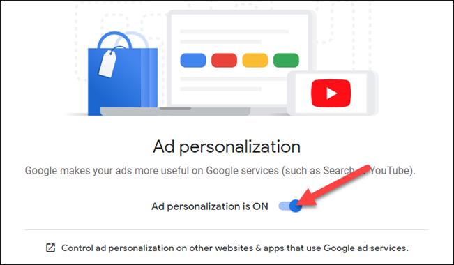تخصيص الإعلانات يجب أن يكون قيد التشغيل
