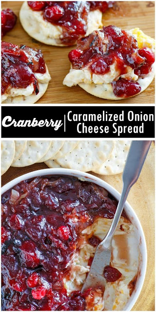 Yummy #Cranberry Caramelized Onion Cheese Spread #Recipe #dessert