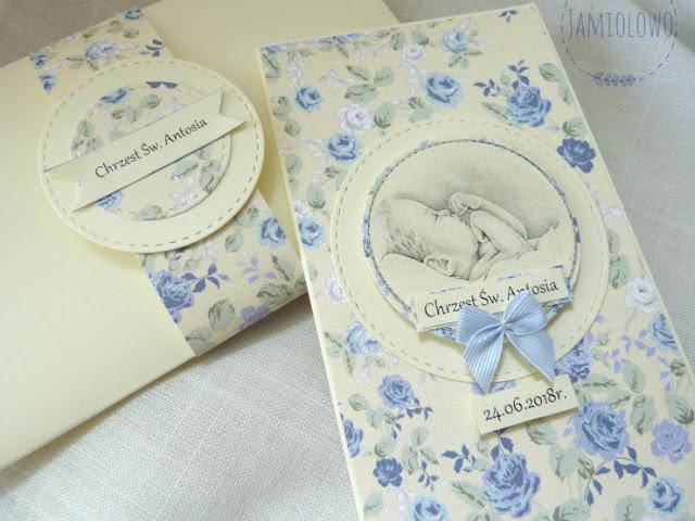 karteczka dla maluszka z okazji chrztu św.