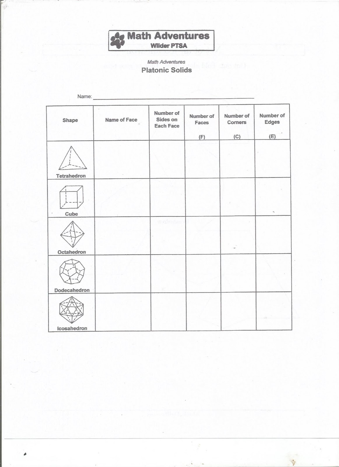Here are the worksheets for today's activity:
