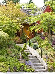 Desain Tangga Depan Rumah Tema Alam