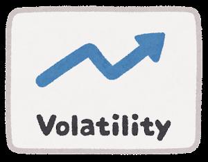 VUCAのマーク(Volatility)