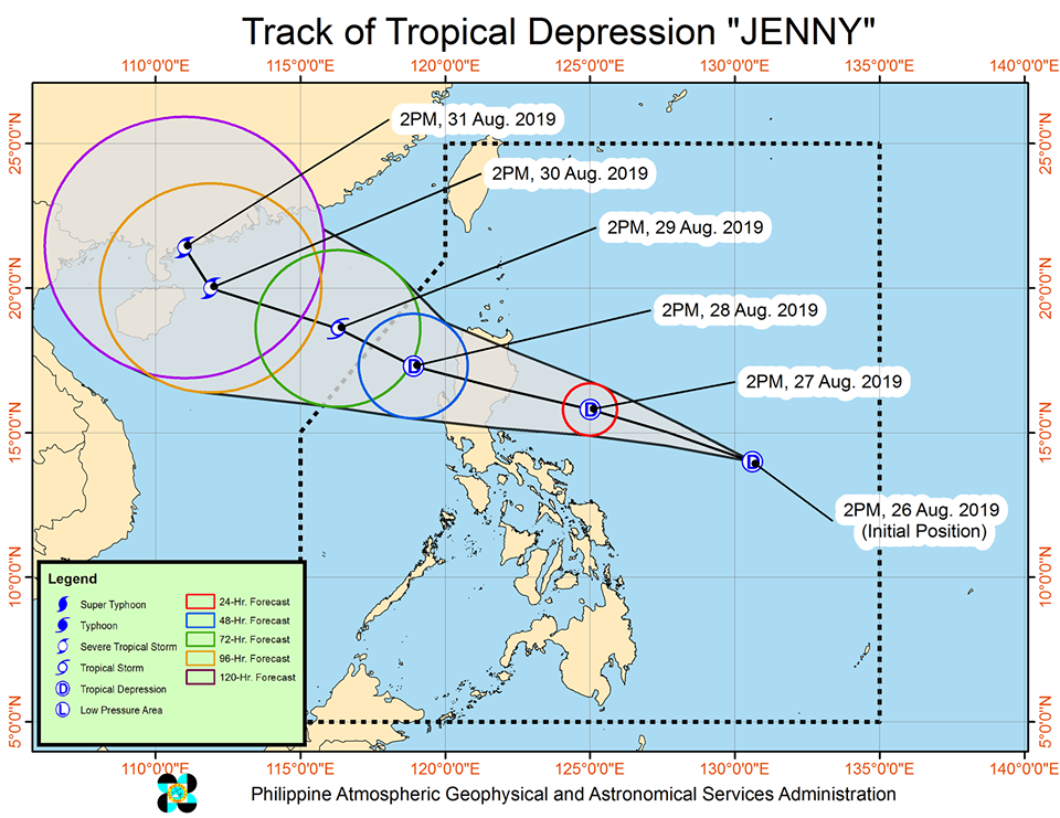 'Bagyong Jenny' is expected to exit the Philippine Area of Responsibility (PAR) on Thursday