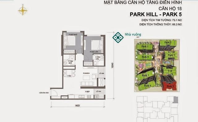 Căn hộ số 18 Times City Park Hill 5