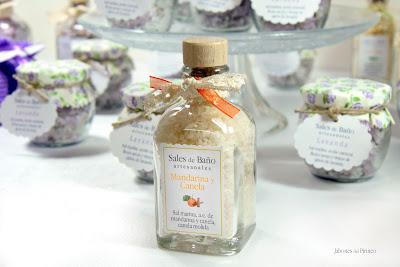 Sal de Baño de Mandarina y Canela en frasca