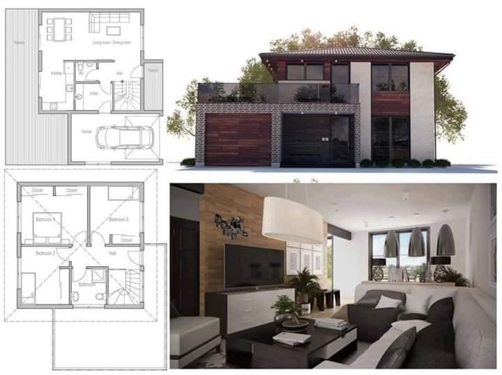 Contoh Terbaik Denah dan Desain Rumah Minimalis Modern Berbagai Tipe dan Luas Tanah 30+ Contoh Denah dan Desain Rumah Minimalis Modern Berbagai Tipe