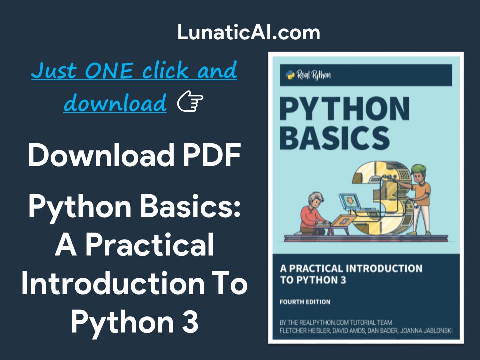 Python Basics: A Practical Introduction to Python 3 PDF Github