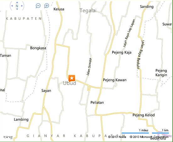Round Bar Cafe Ubud Bali Location Map,Location Map of Round Bar Cafe Ubud Bali,Round Bar Cafe Ubud Bali accommodation destinations attractions hotels map photos pictures