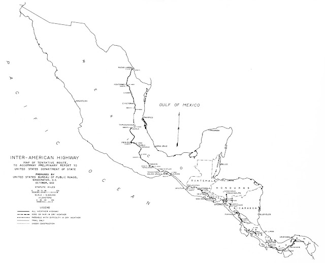 Image Result For Panamanian Pan American Highway Map
