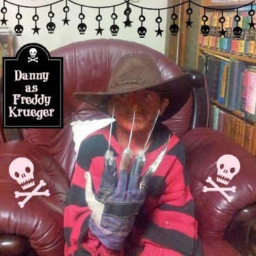 Halloween 2013 Party Freddy Krueger Costume Dress Up Face Paint