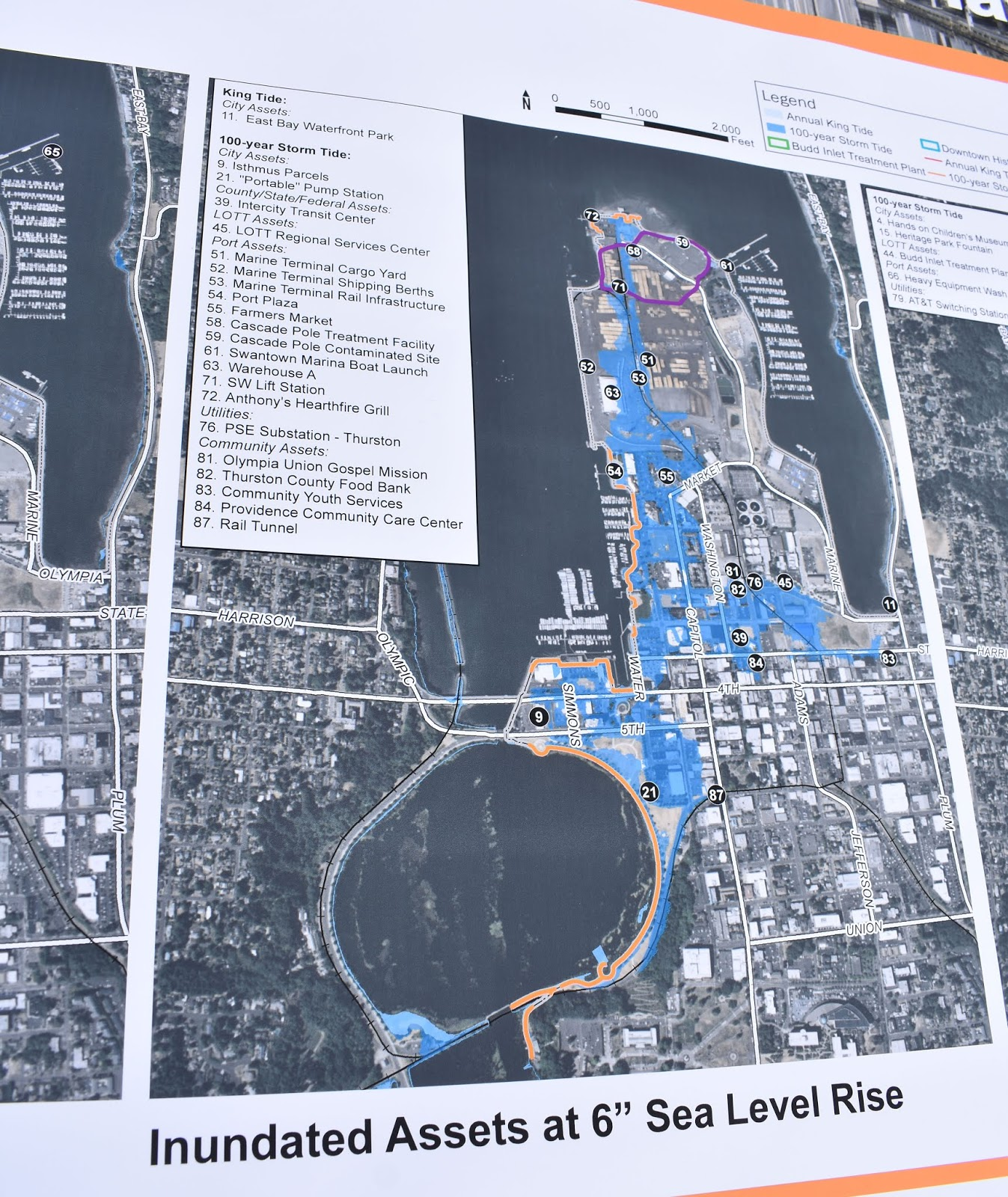 above due to its location on budd inlet downtown olympia will flood more often as sea levels rise draft sea level rise adaptation strategies will be on
