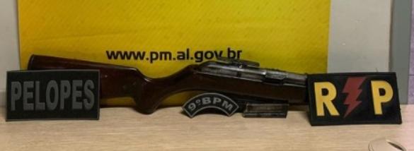Em Delmiro Gouveia, homem é preso por porte ilgeal de arma de fogo