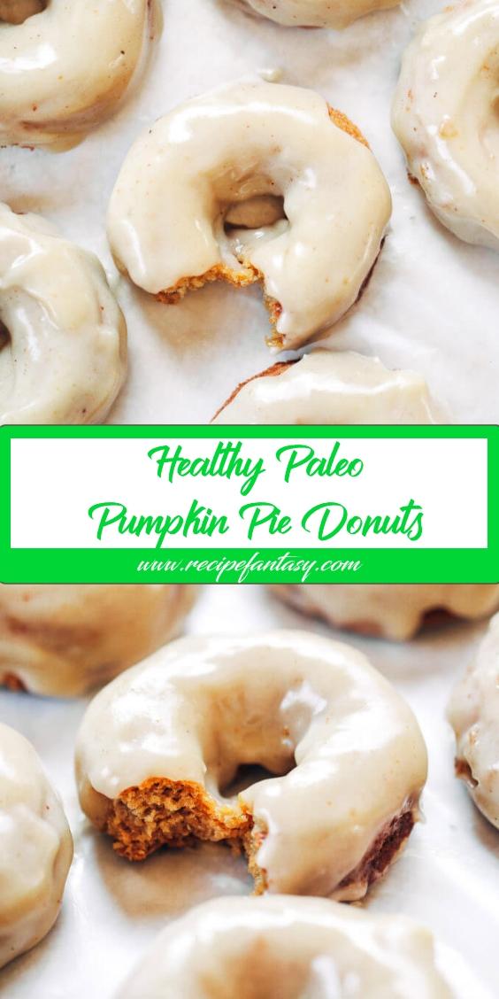Healthy Paleo Pumpkin Pie Donuts