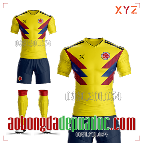 Áo Colombia 2019 Sân Nhà Màu Vàng Đẹp Và Độc