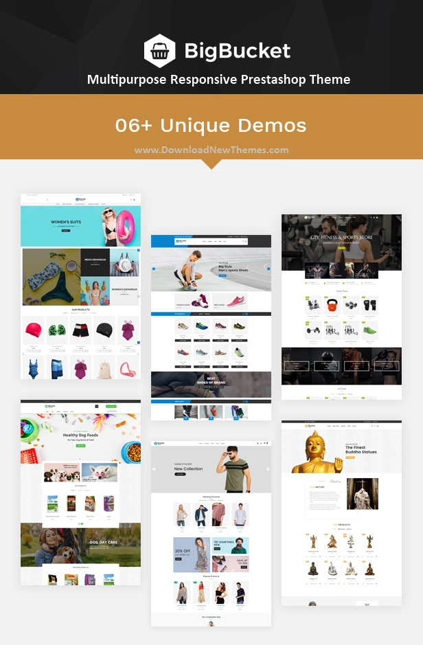 6in1 Elegant Design Multipurpose Responsive Prestashop Theme