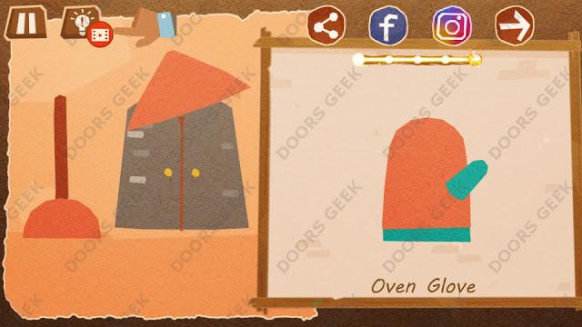 Chigiri: Paper Puzzle Novice Level 23 (Oven Glove) Solution, Walkthrough, Cheats