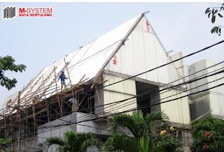 Single Panel dan Aplikasinya pada Atap Bangunan Rumah Tinggal di Radio Dalam, Jakarta