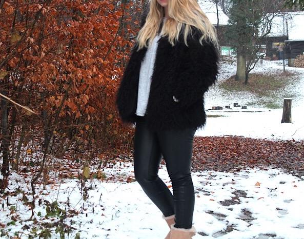 Fake Fur Jacke H&M