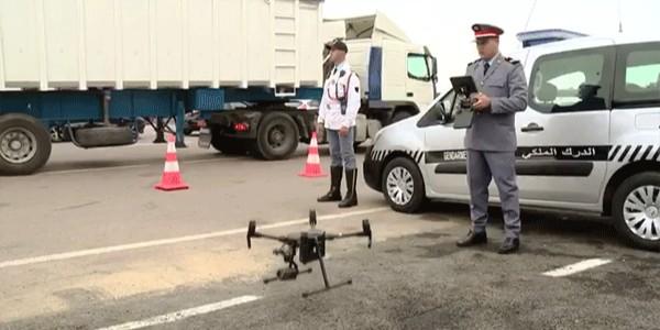 الدرك الملكي يستعين بطائرات الدرون لمراقبة الطريق السيار
