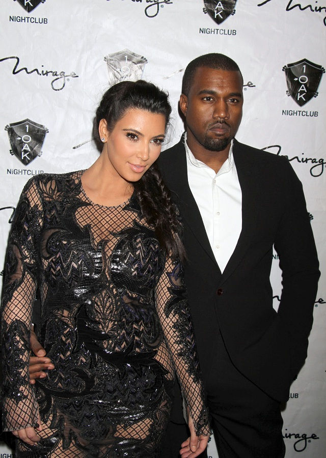 Kim Kardashian Shows Off Curves In A Black Lace Dress At