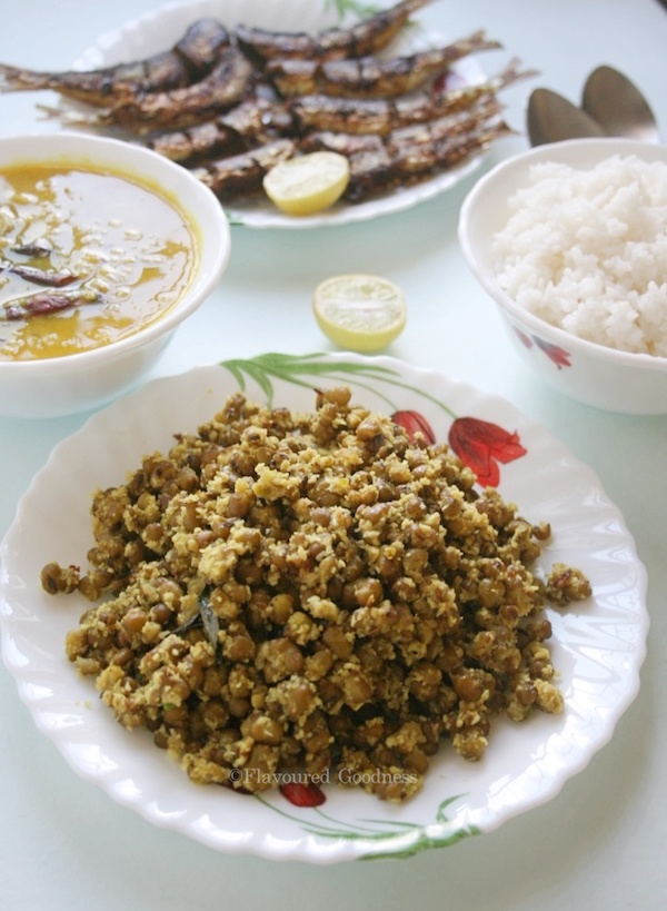 how to make Cherupayar Thoran | Green Moong Dal Stir Fry Using Coconut