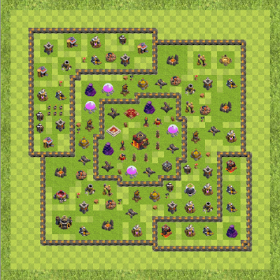 War Base Town Hall Level 10 By Ajay Dubey (War1 TH 10 Layout)