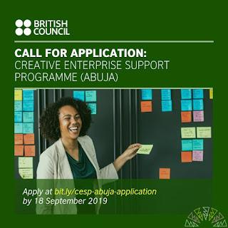 2019 British Council West Africa Creative Enterprise Support Program