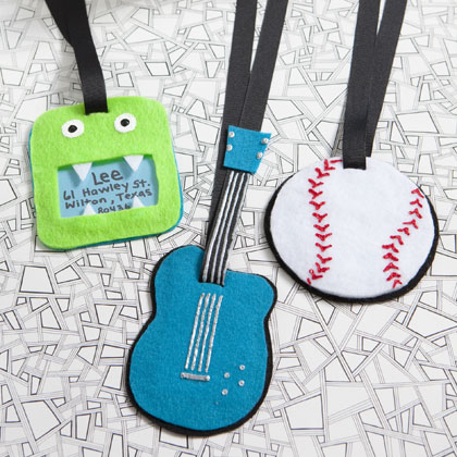Funky Luggage Tags