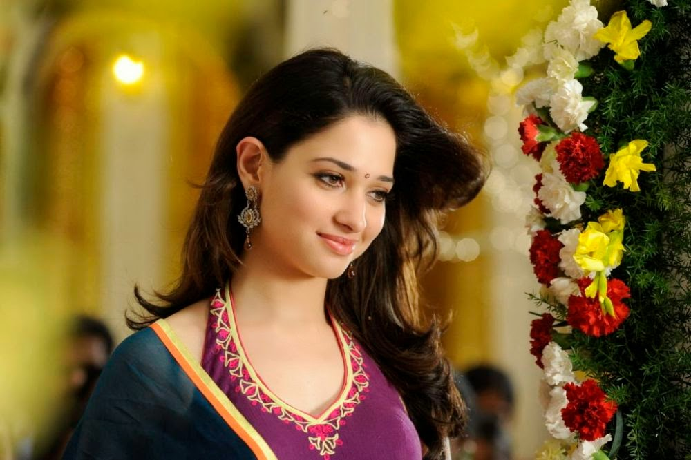 Tamanna Hd Saree Wallpaper: Tamanna Half Saree Hot Stills