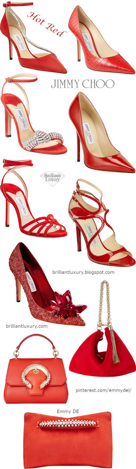 Jimmy Choo Hot Red Shoes & Bags #brilliantluxury