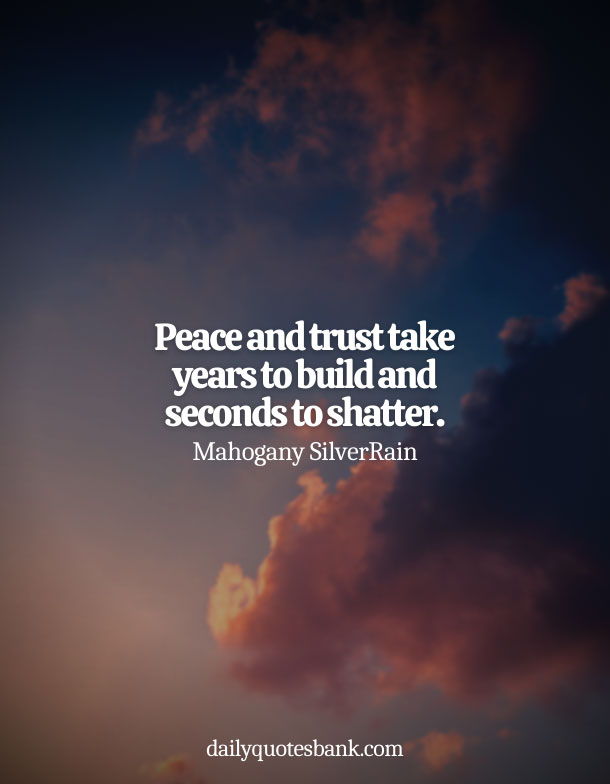 Deep Quotes About Being At Peace