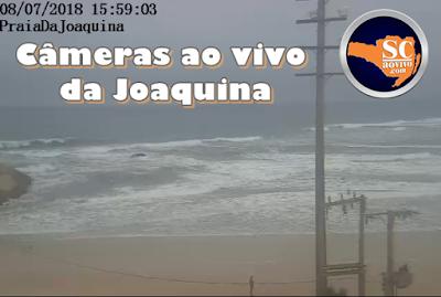 Praia da Joaquina ao vivo