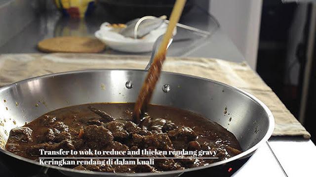 Masak rendang daging yang sedap