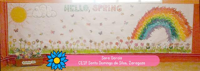 Mural de la primavera de la teacher Sara García