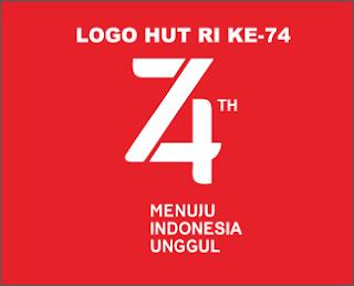 download cdr logo HUT RI ke 74