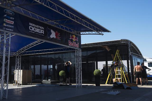 Rally Service Park Set Up