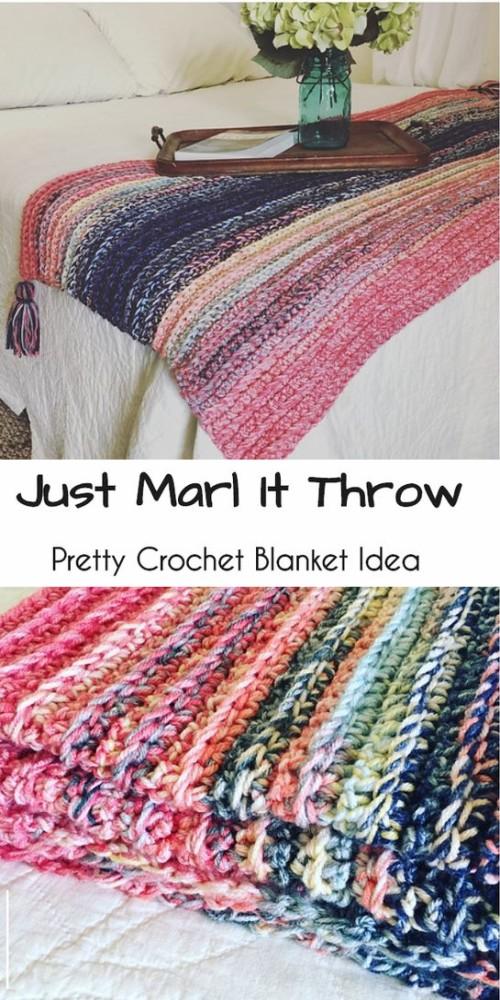 Just Marl It Throw - Free Pattern
