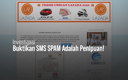 Investigasi SMS SPAM Berisi Penipuan