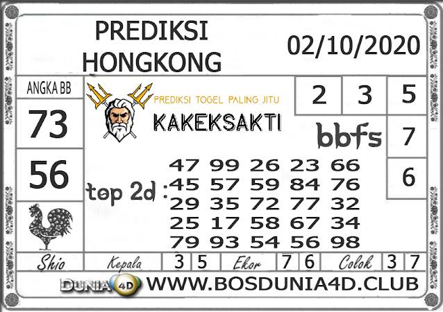 Prediksi Togel HONGKONG DUNIA4D 02 OKTOBER 2020