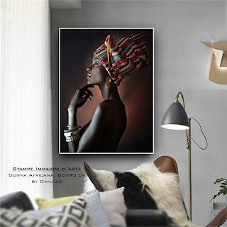 Stampe immagini d'arte donna africa